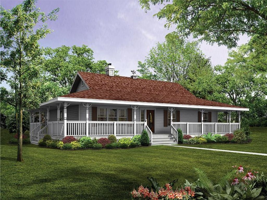 Image of: Country House Plans With Wrap Around Porch Kit