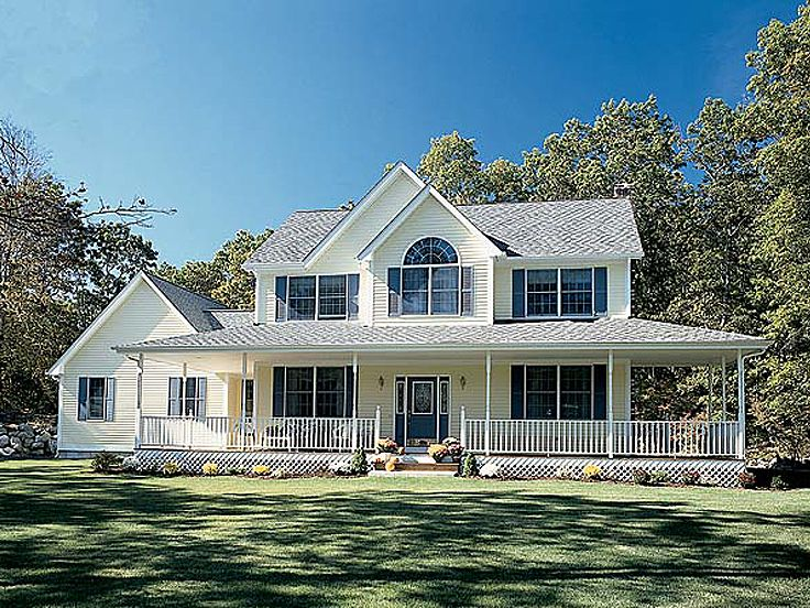Country House Plans with Wrap around Porch Modern