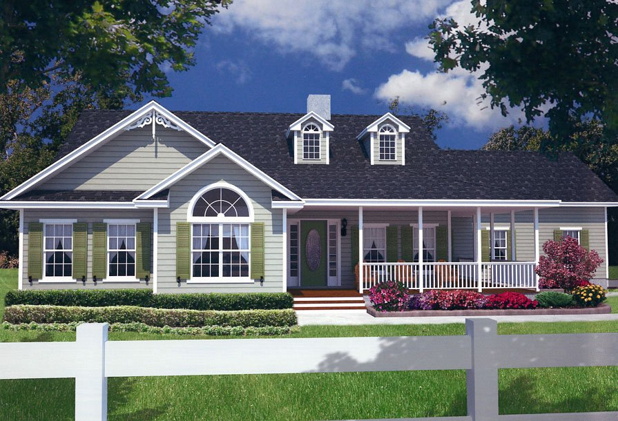 Image of: Country House Plans With Wrap Around Porch Nice