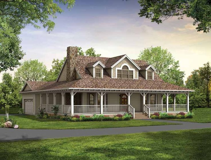 Image of: Country House Plans With Wrap Around Porch Wide