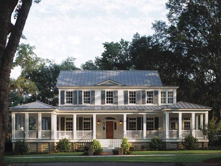Image of: Country House With Wrap Around Porches Plans