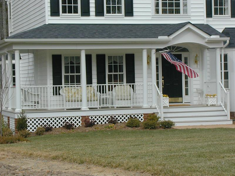 Image of: Country Porch White