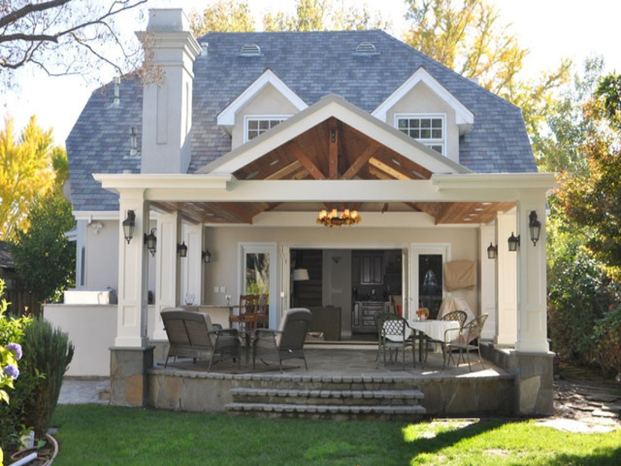 Image of: Covered Back Porch Designs