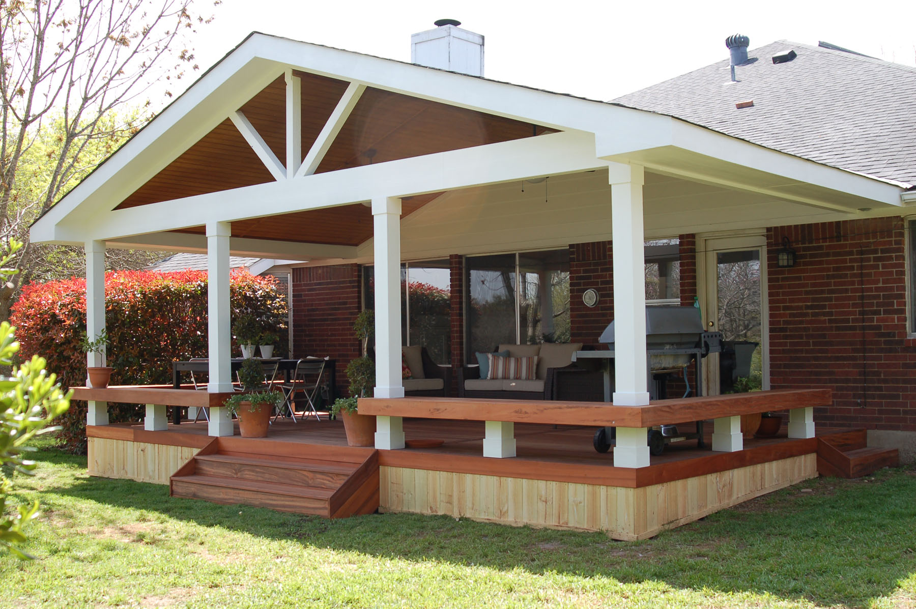 Image of: Covered Back Porch Ideas Design