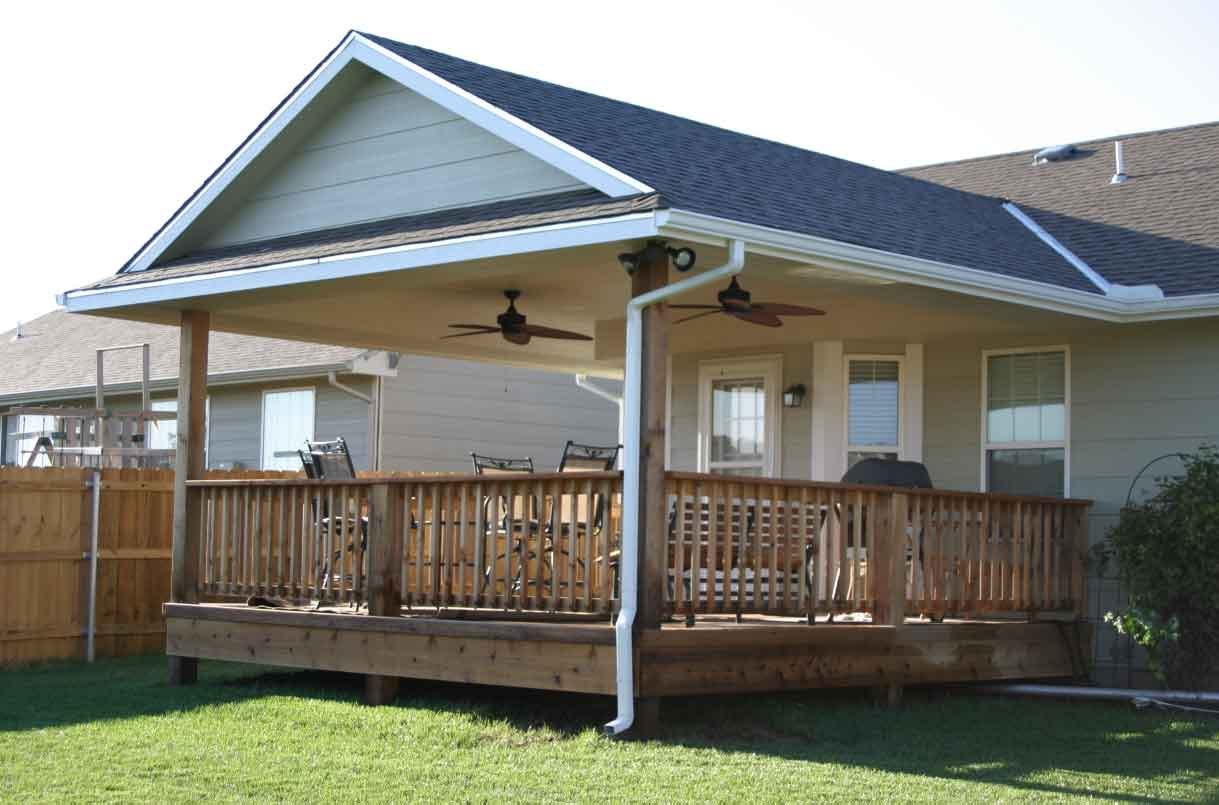 Image of: Covered Back Porch Ideas