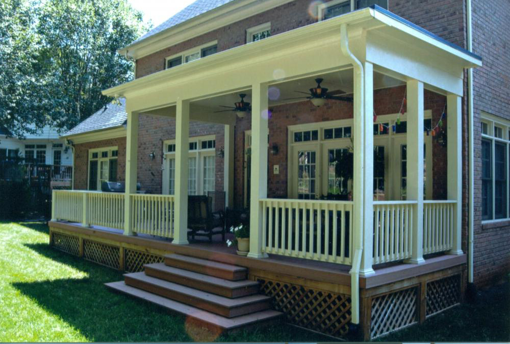 Image of: Covered Back Porch Paint