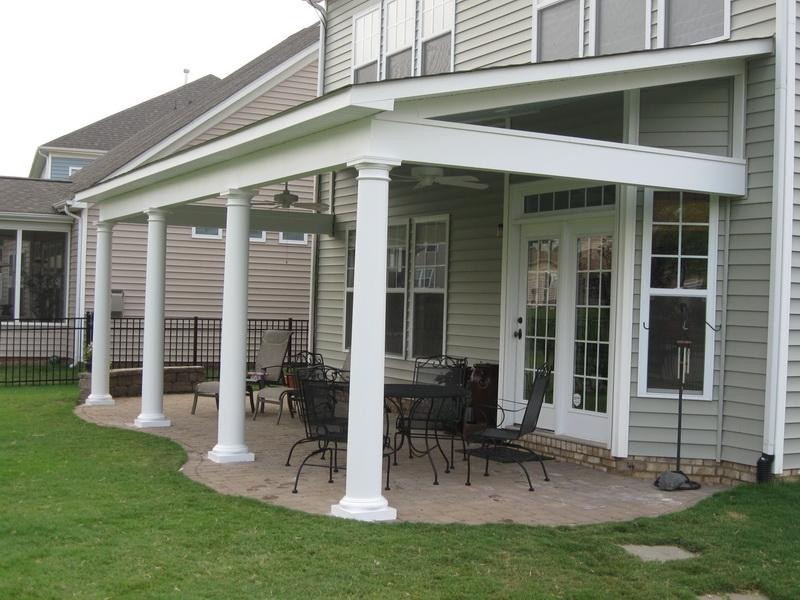 Image of: Covered Back Porch Type
