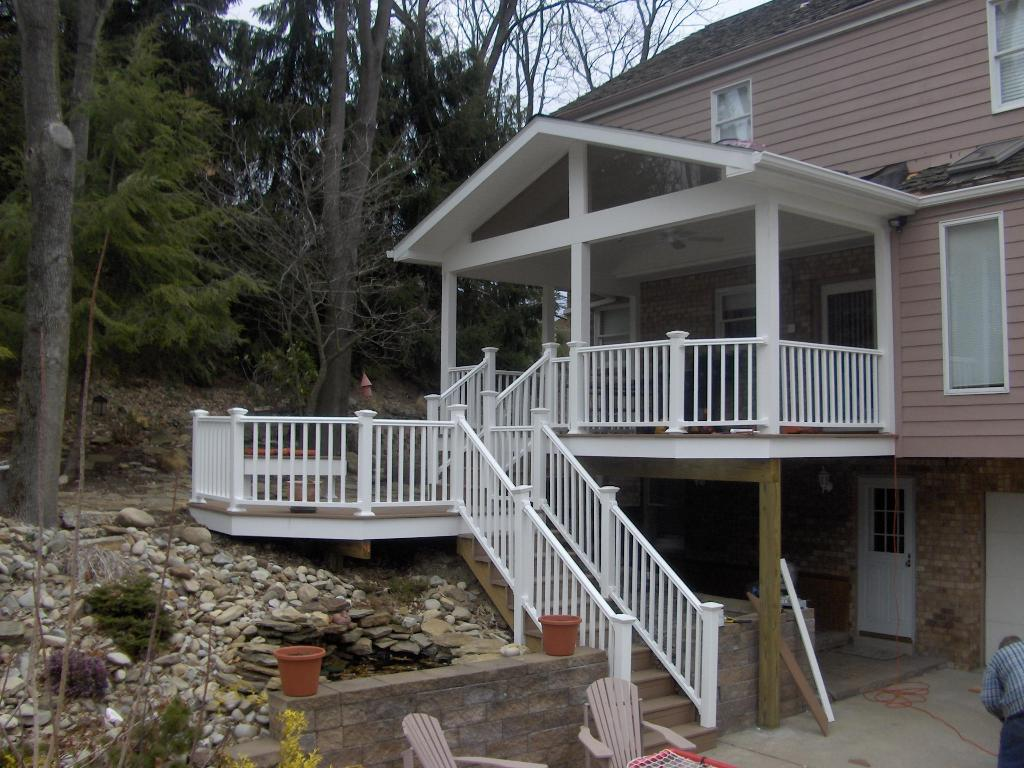 Image of: Covered Back Porch White