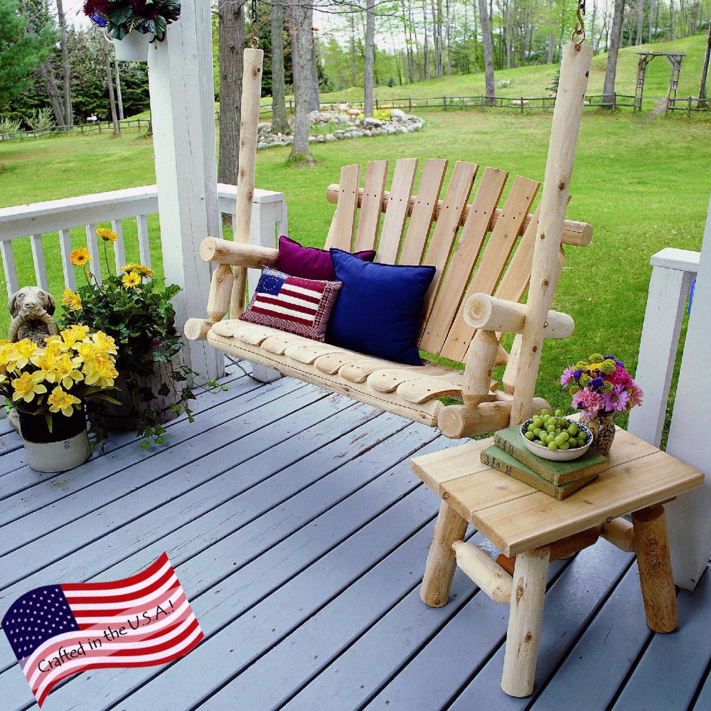 Image of: Creating Cedar Porch Swing
