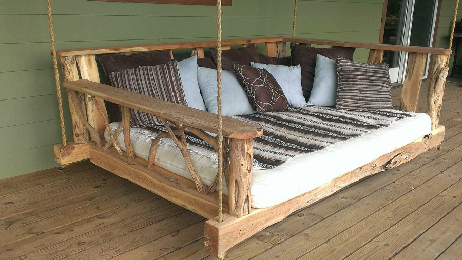 Image of: Custom Cypress Porch Swing