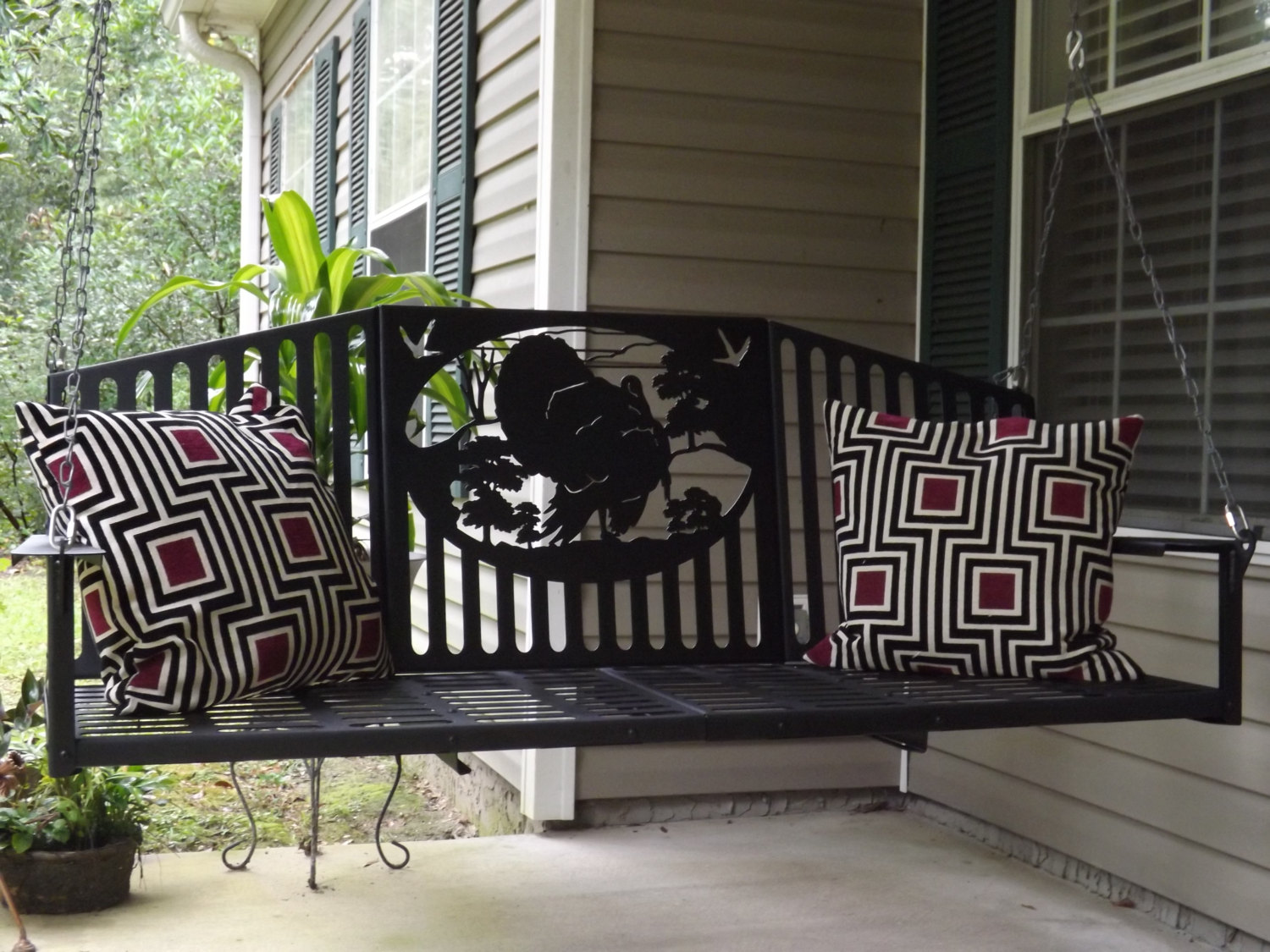 Image of: Custom Metal Porch Swings