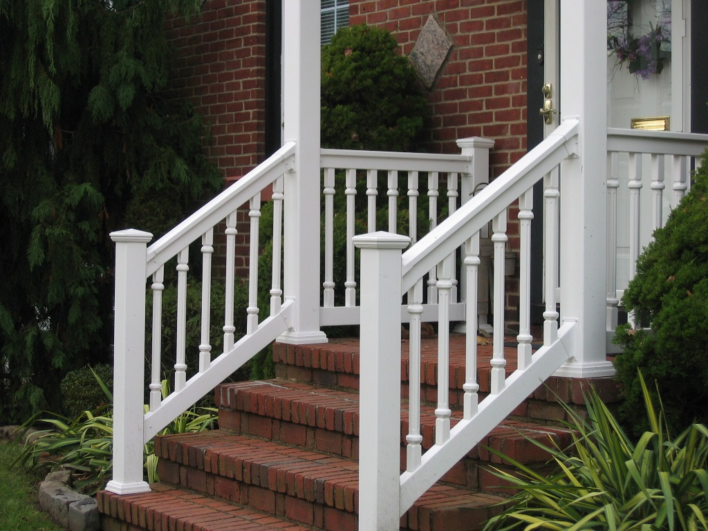 Image of: DIY Front Porch Railings