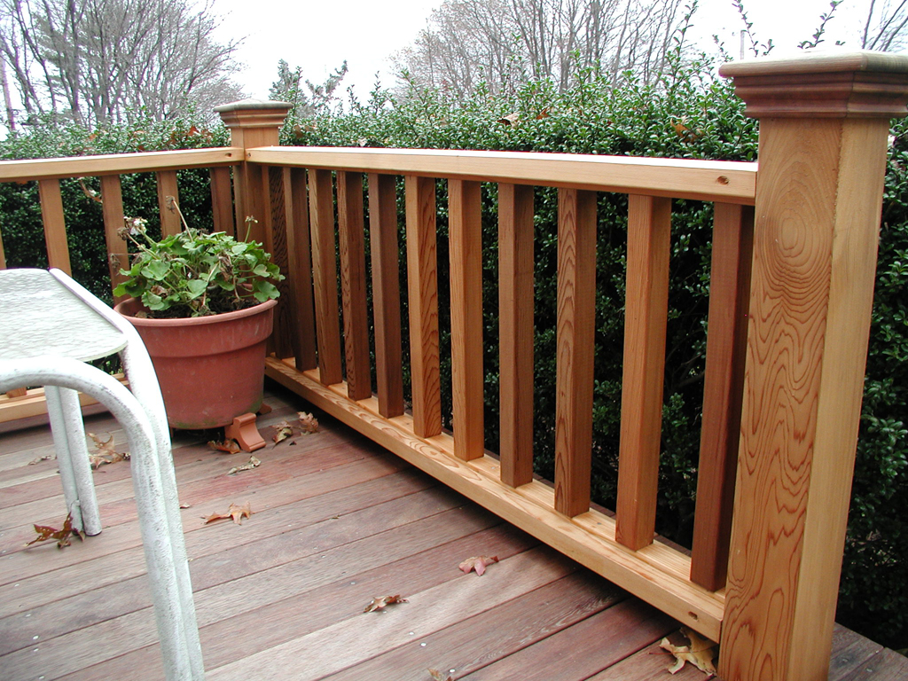 Image of: DIY Porch Railing Design Craft