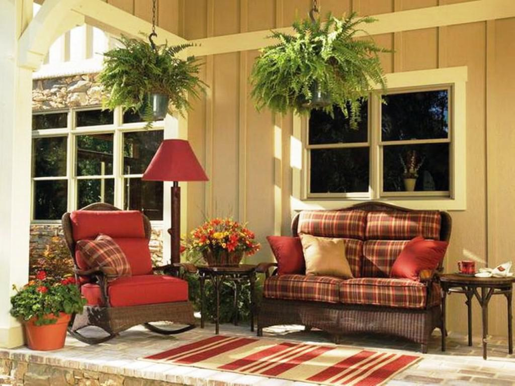 Image of: Decorating Front Porch Furniture
