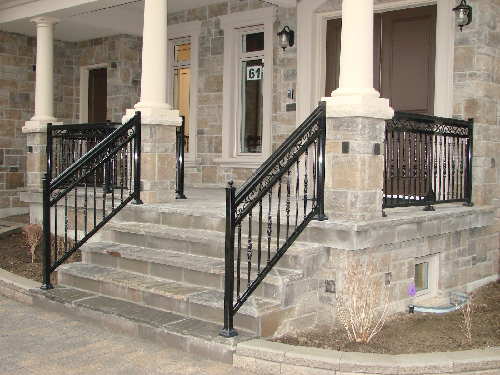 Image of: Decorative Aluminum Porch Railings