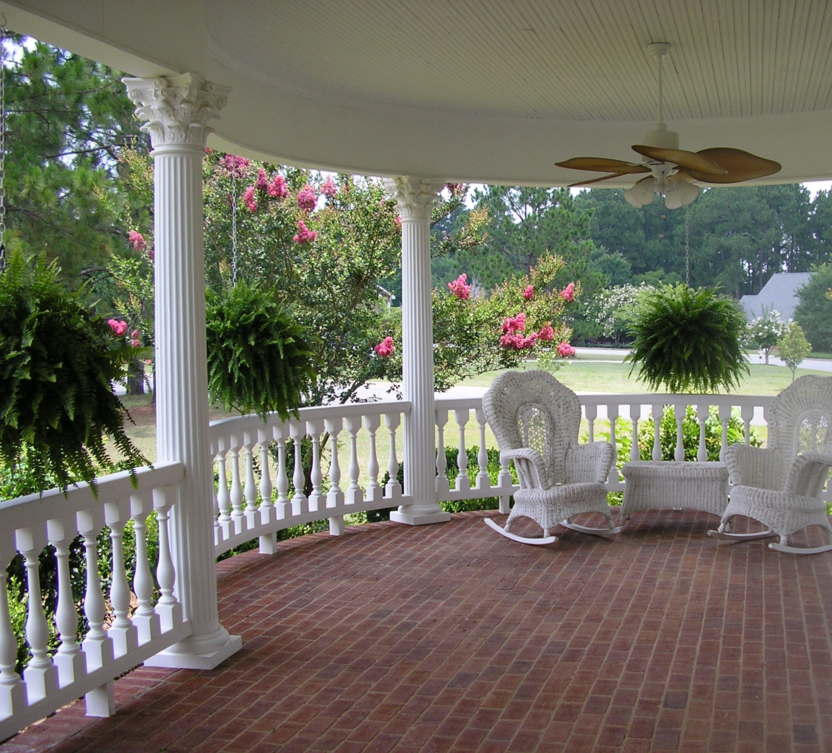 Image of: Decorative Fiberglass Porch Columns