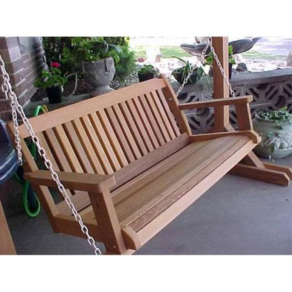 Image of: Design Cedar Porch Swing