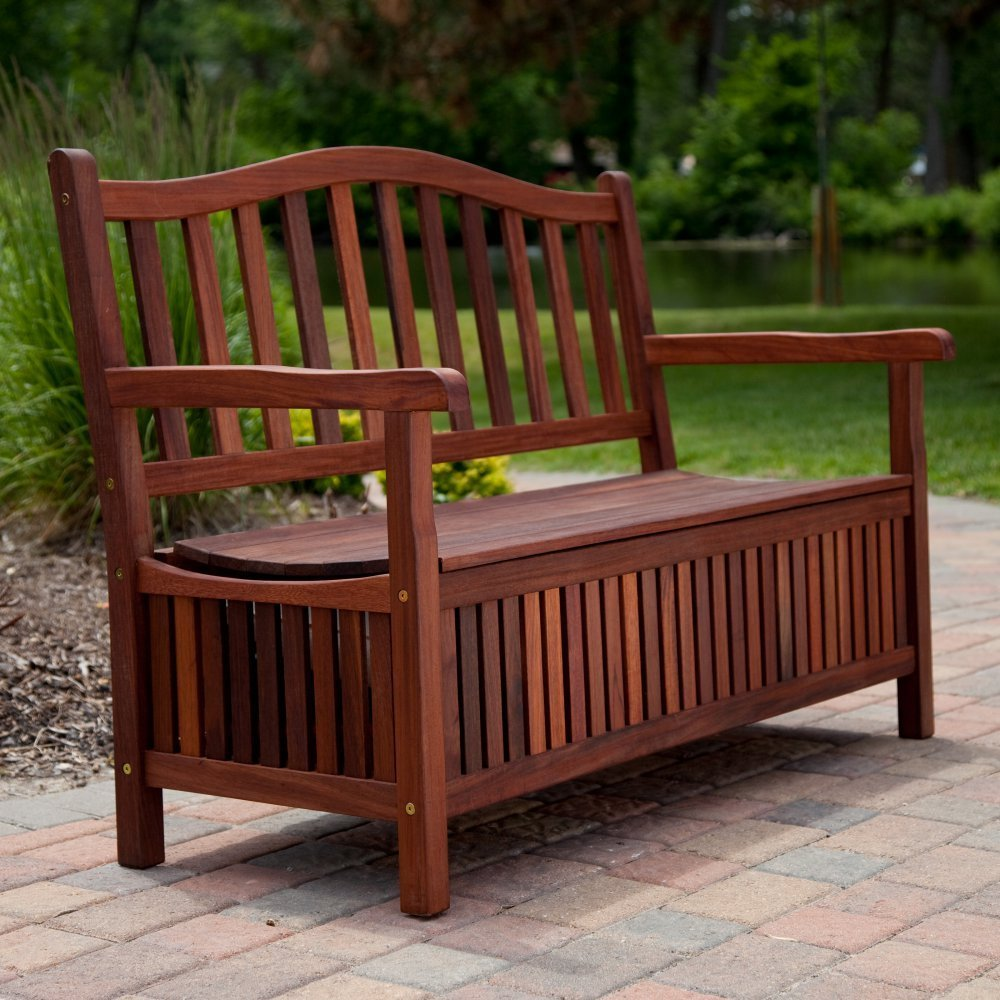 Image of: Design Front Porch Benches
