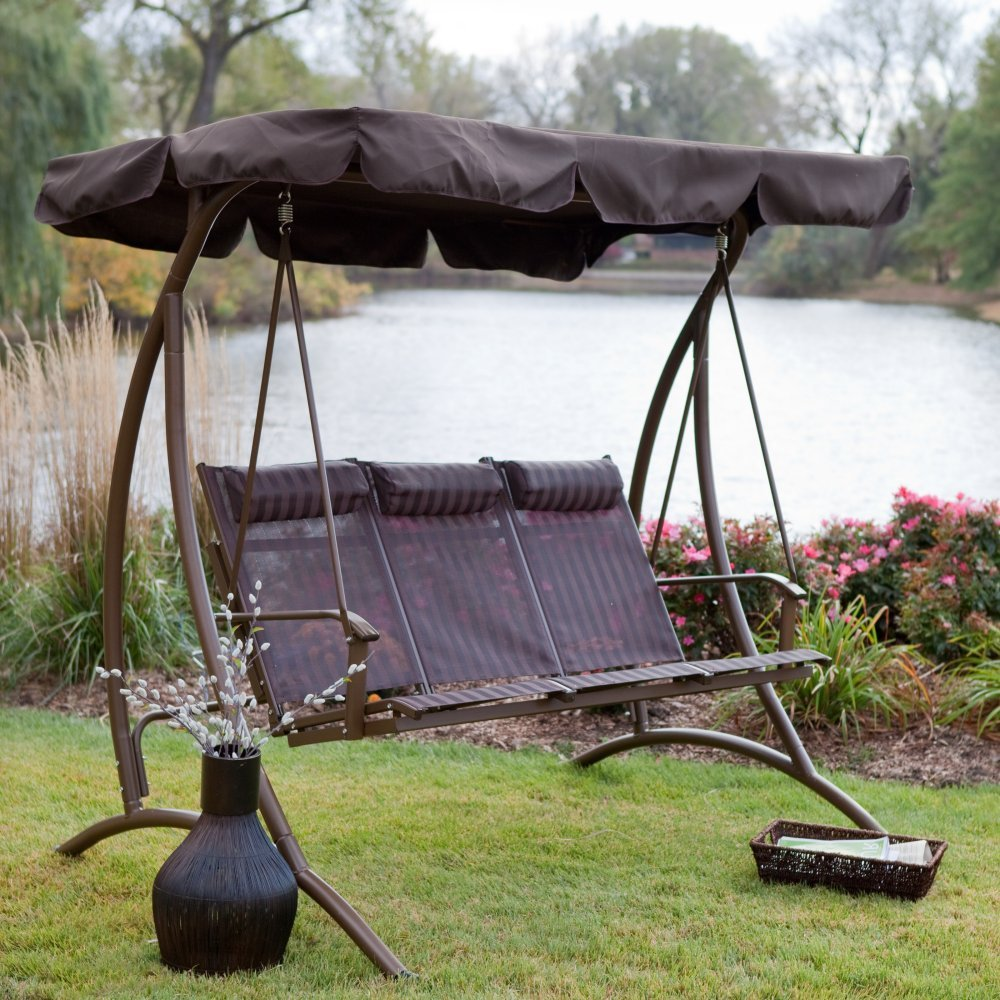 Image of: Design Glider Porch Swing