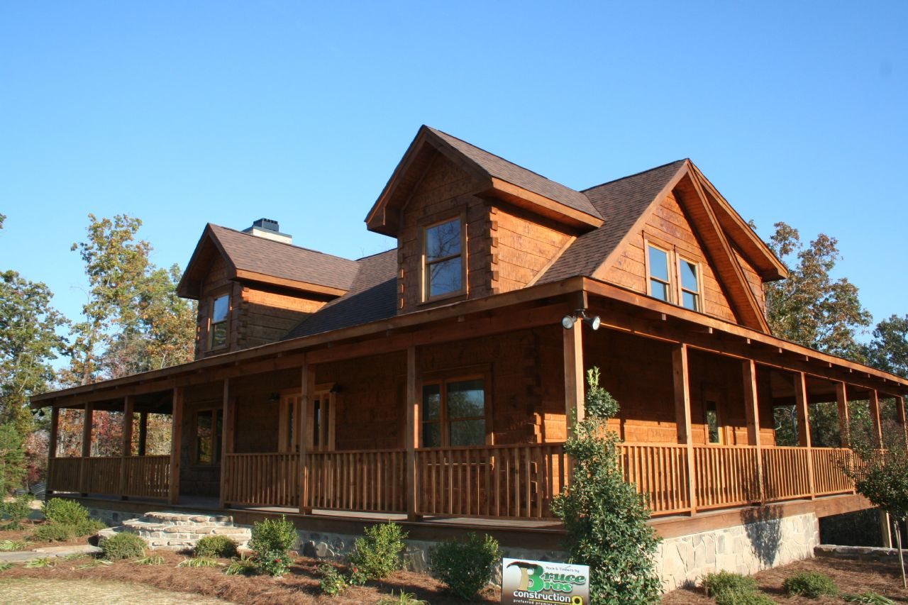 Image of: Design Log Cabin With Wrap Around Porch