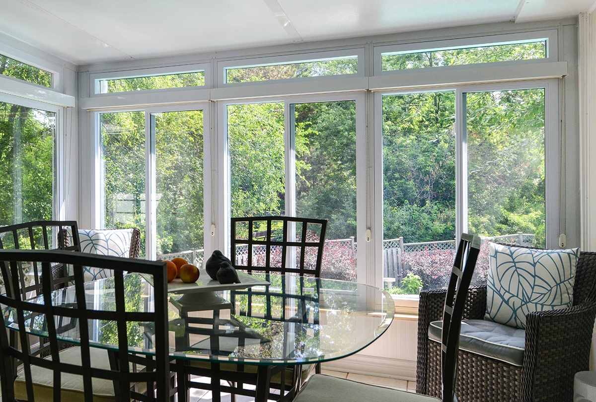 Image of: Dining 3 Season Porch Windows
