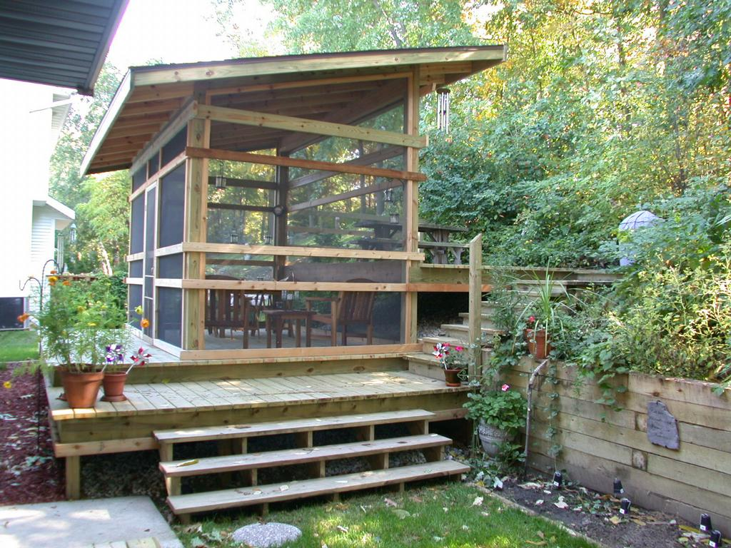 Image of: Diy Modern Screened Porch