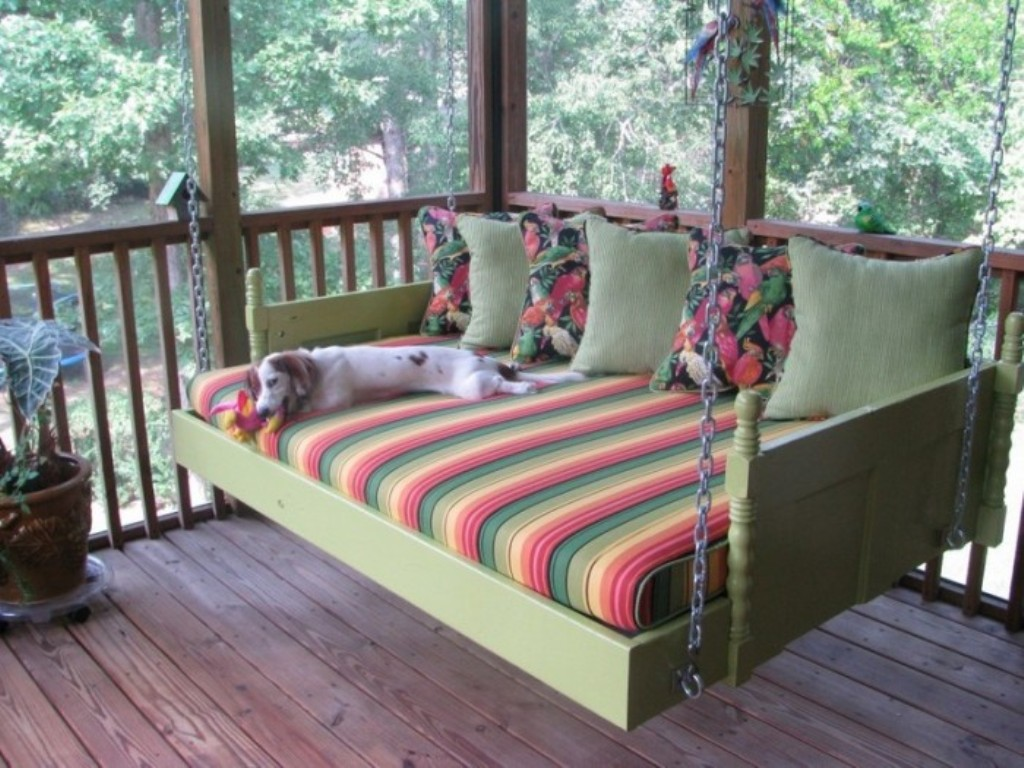 Image of: Diy Porch Swing Bed Plans