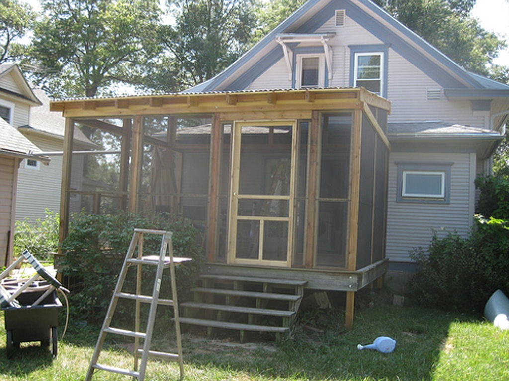 Image of: Diy Screen Porch Plans