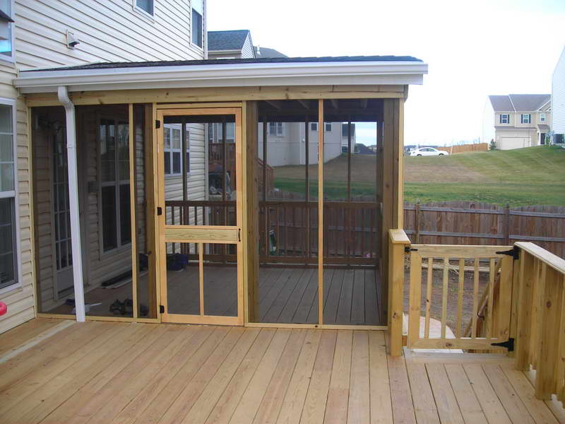 Image of: Diy Screen Porch Wood