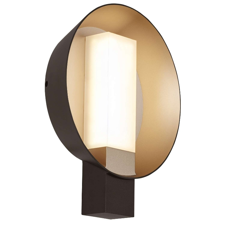 Image of: Effetto Round Outdoor Wall Light
