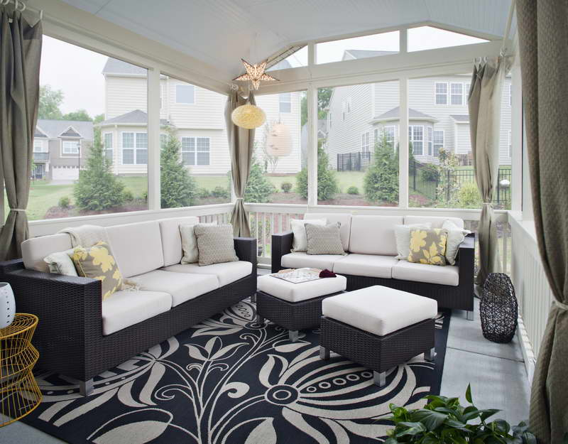 Image of: Enclosed Porch Designs Modern