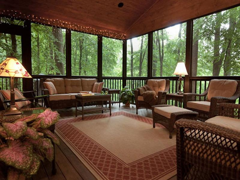 Image of: Enclosed Porch Designs Nature