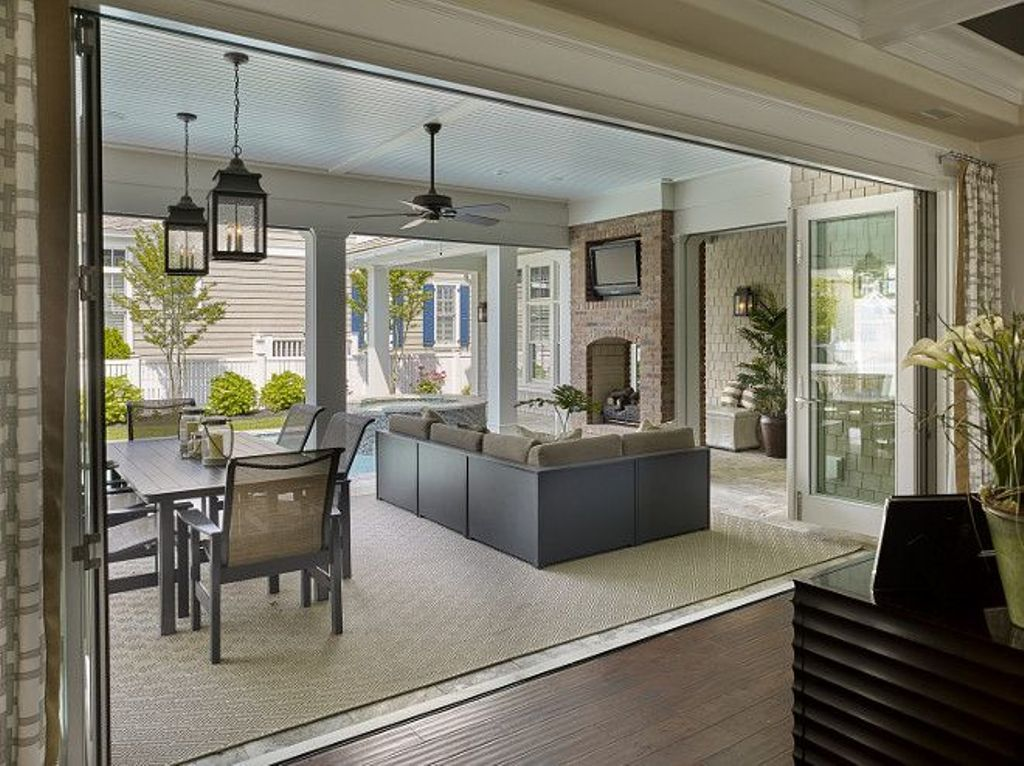 Image of: Enclosing A Porch With Sliding Glass Doors