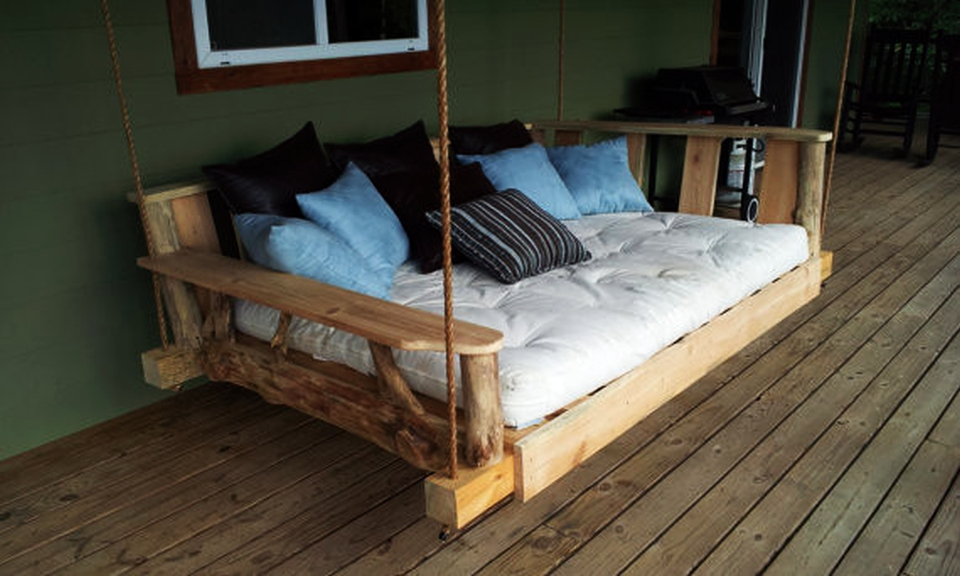 Image of: Enjoy Diy Porch Swing Bed