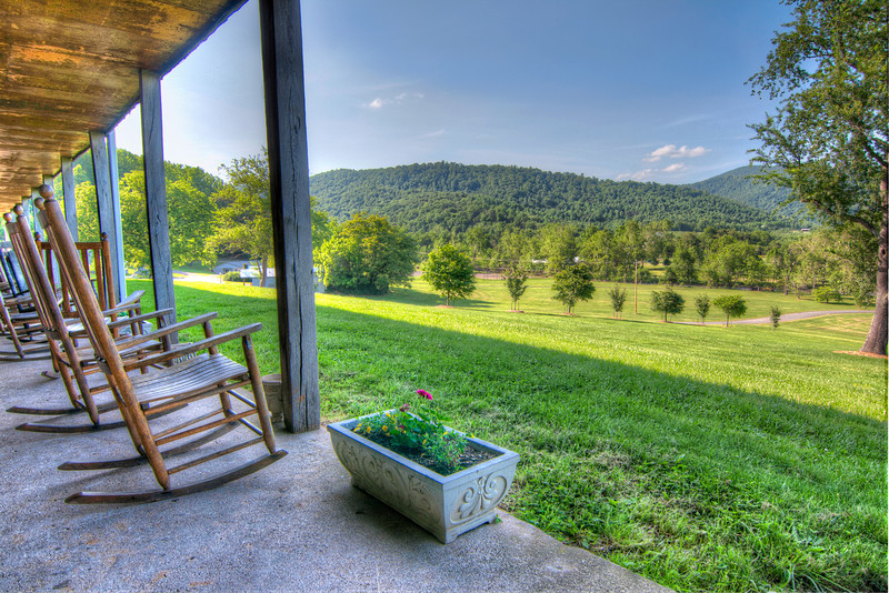 Image of: Exterior Country Porch