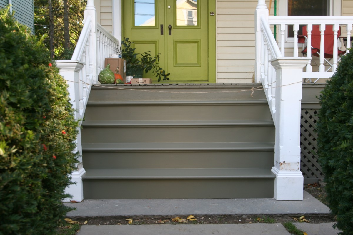 Image of: Exterior Front Porch Steps