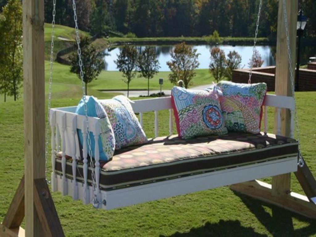 Image of: Exterior Hanging Porch Swings