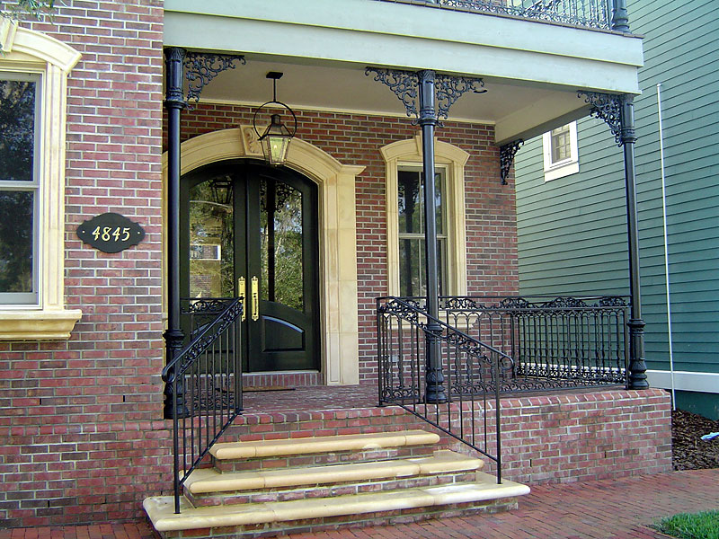 Image of: Exterior Iron Porch Railing