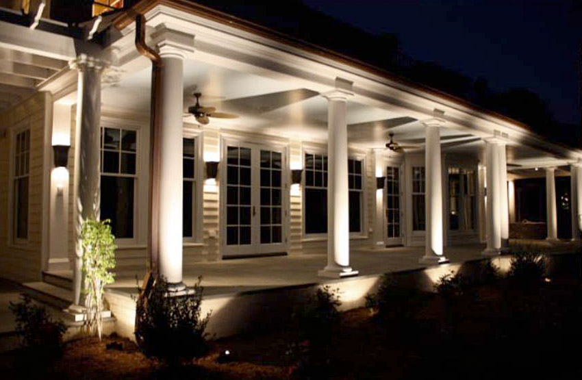 Image of: Exterior Porch Lights In White