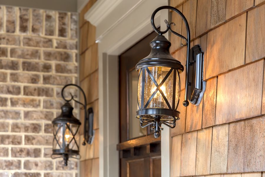 Image of: Exterior Porch Lights On Wall