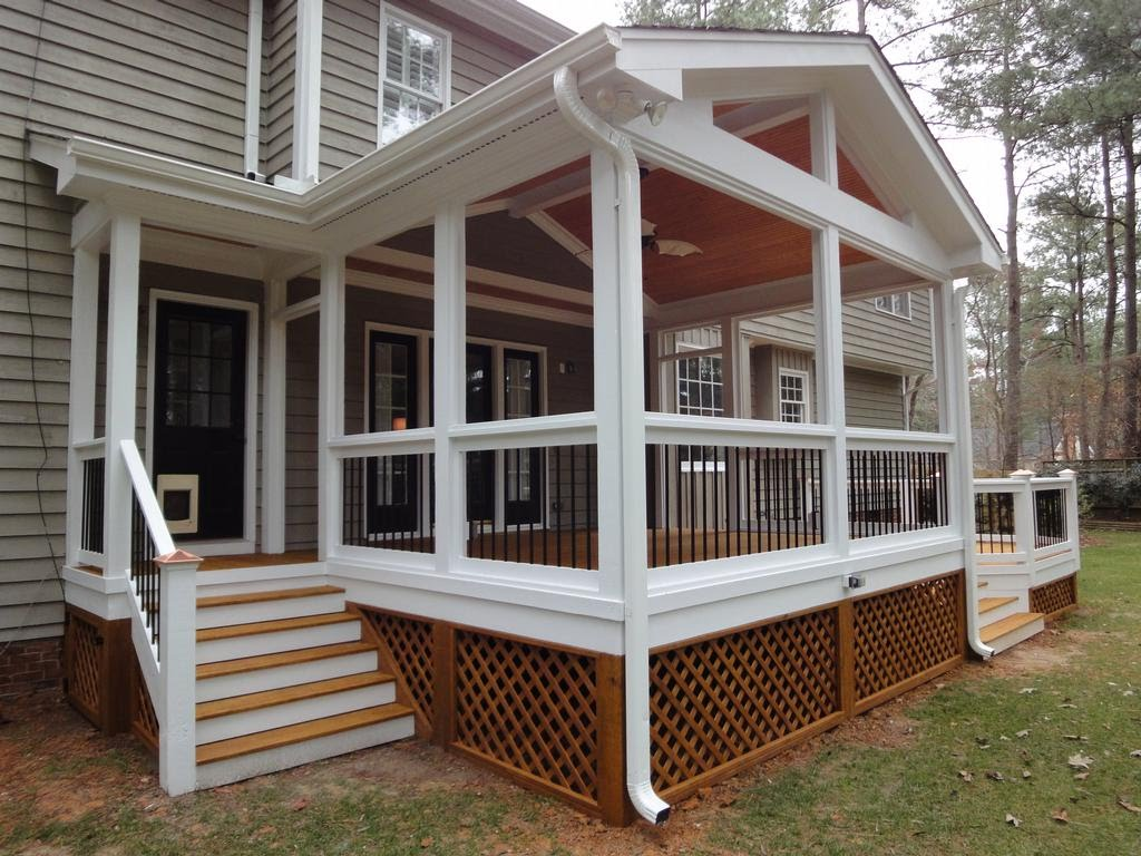 Image of: Famous Covered Back Porch Ideas