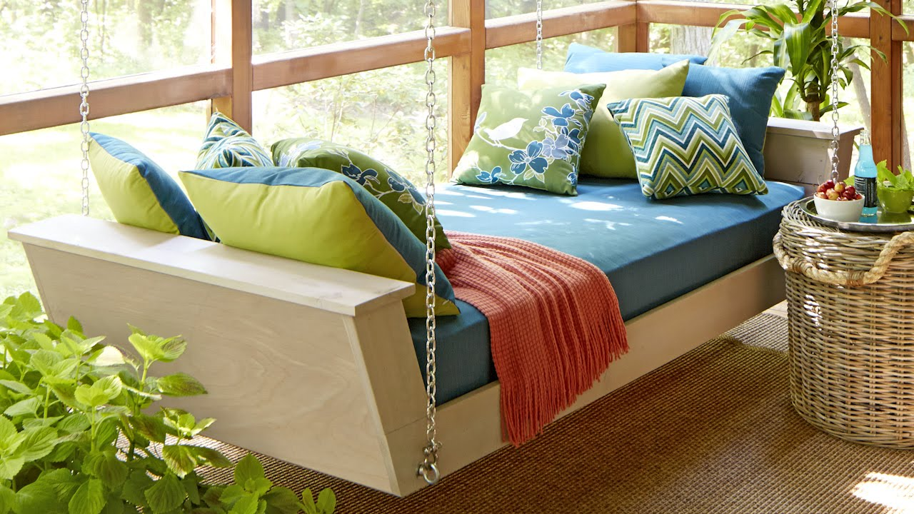 Image of: Famous Daybed Porch Swing