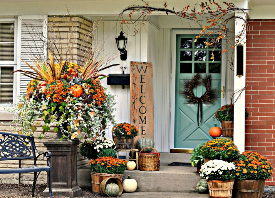 Image of: Famous Front Porch Flowers