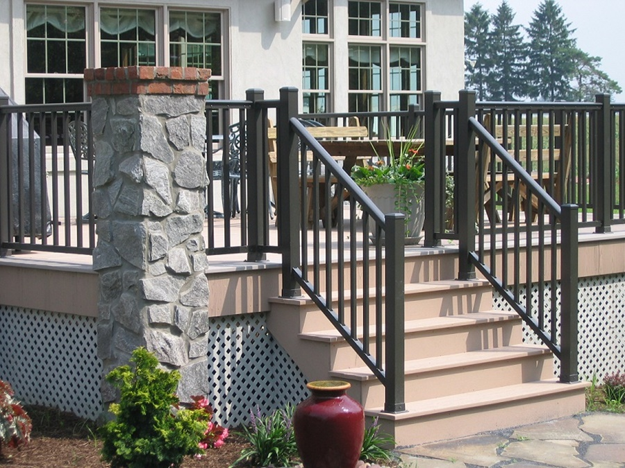 Image of: Fantastic Aluminum Porch Railings