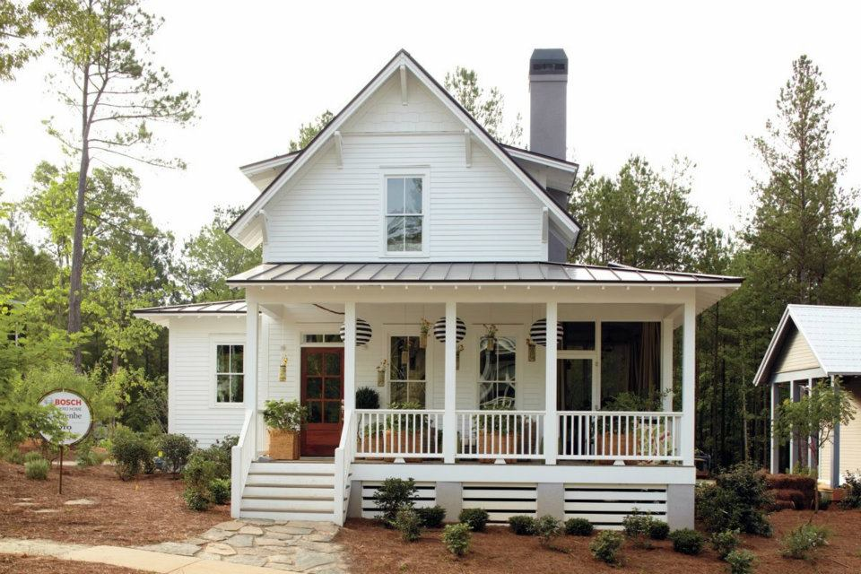 Image of: Farmhouse Front Porch Exterior