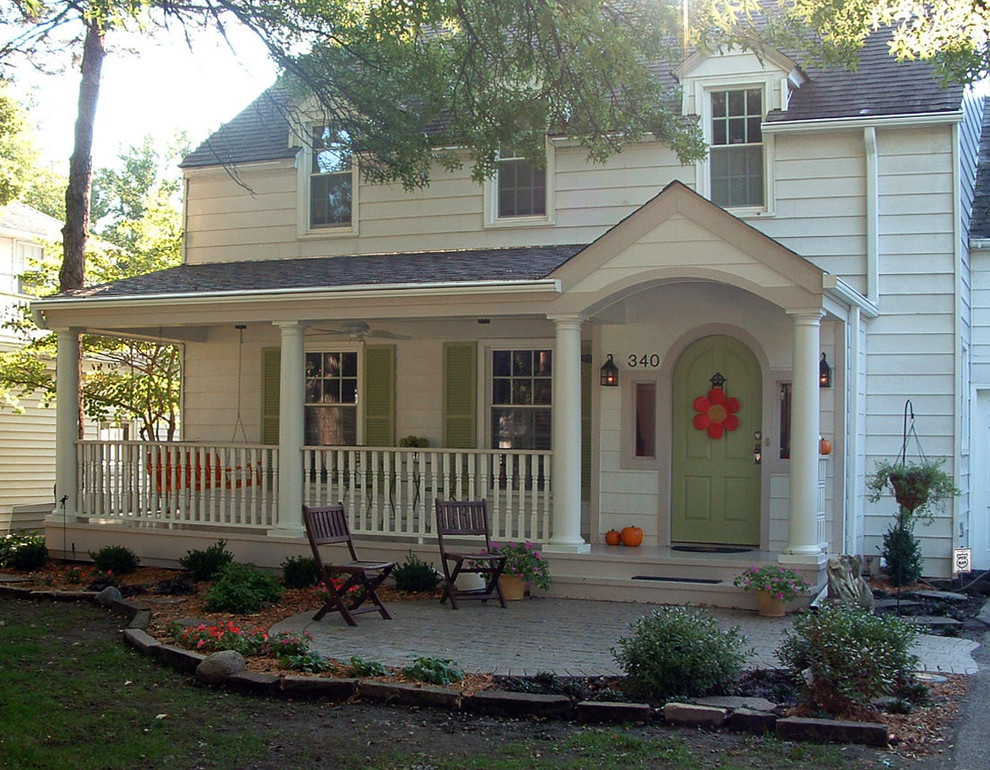 Image of: Farmhouse Front Porch White