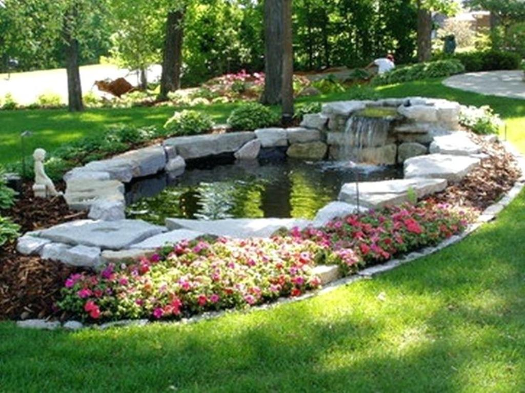 Image of: Fish Pond Landscaping Ideas