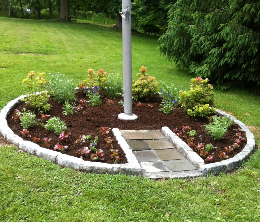Image of: Flagpole Landscaping Around