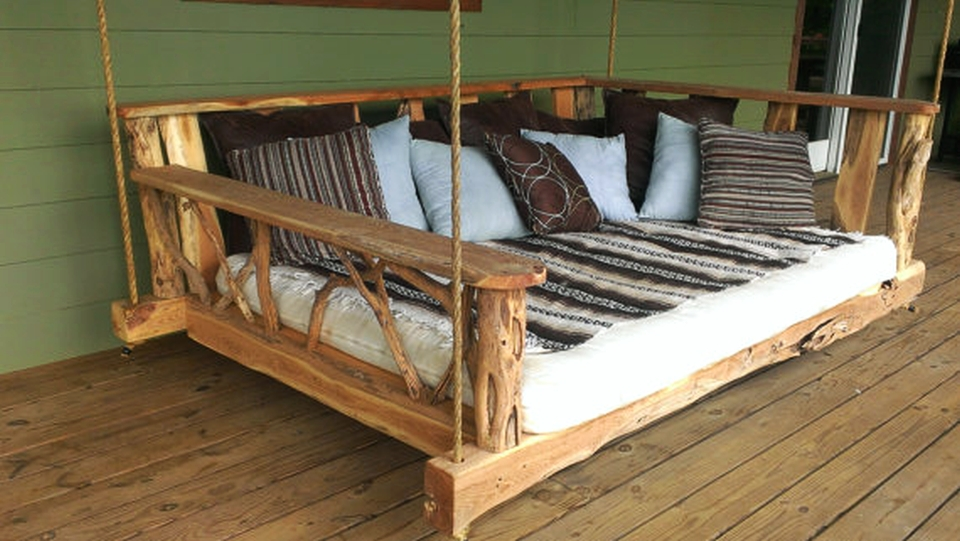 Image of: Floating Diy Porch Swing Bed