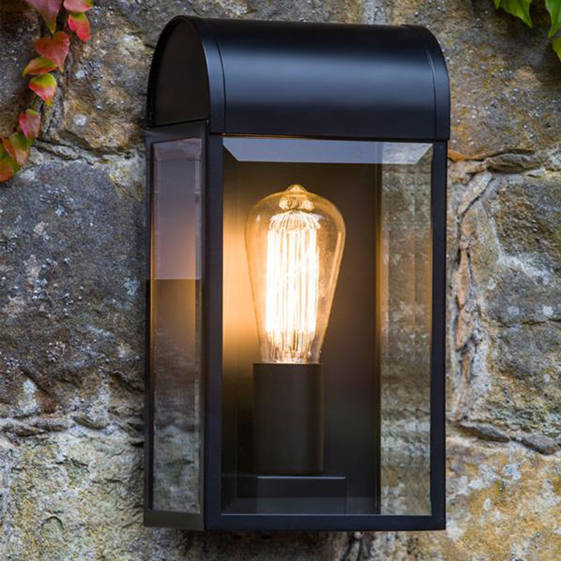 Image of: Flush Black Porch Light